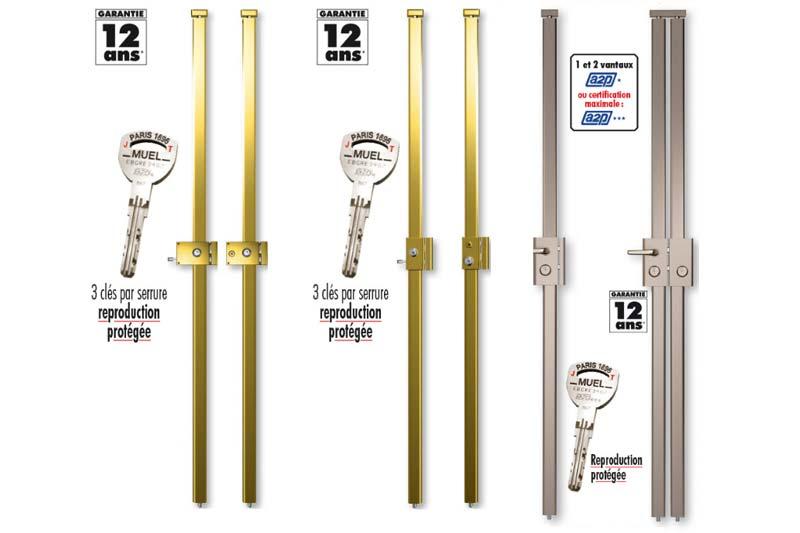 Différentes serrures multipoints installées par votre serrurier Lyon